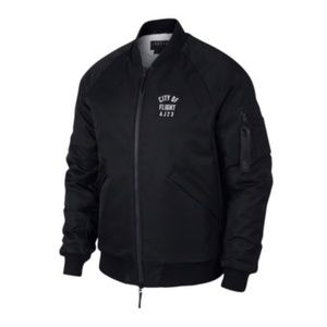 Air Jordan City Of Flight AJ23 Black Bomber Jacket